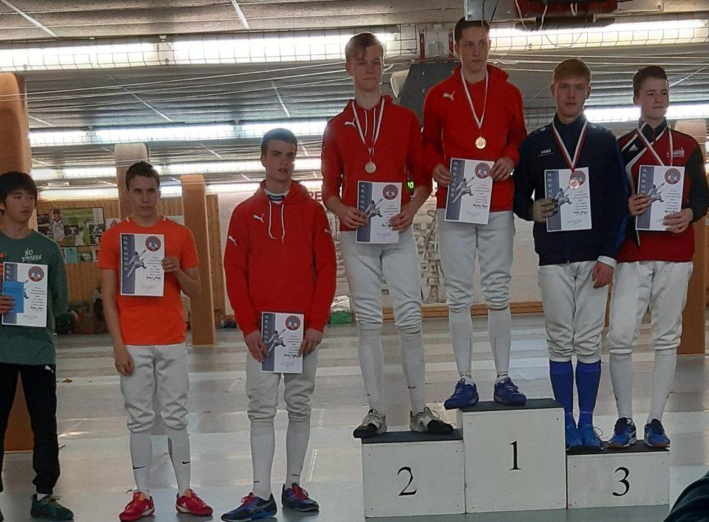 Bronze Malte Hasse Degen Landesmeister 2019